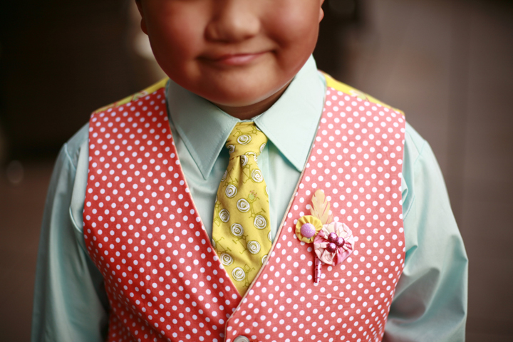 Vest, Neck tie and Boutonniere by French Knot Studios // Photos by Izzy Hudgins Photography