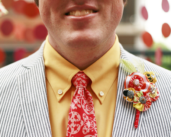 Necktie and Boutonniere by French Knot Studios // Photos by Izzy Hudgins Photography