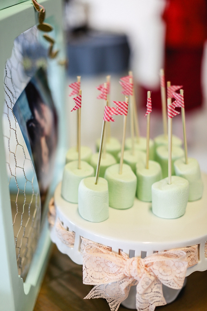 Marshmallow Pops with Washi Tape Flags// Styling by French Knot Studios// Photos by Izzy Hudgins Photography