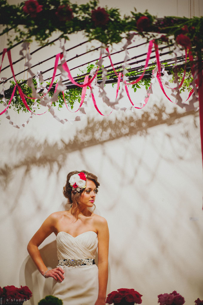 Lovely Bride under Head Table Canopy // The Not Wedding // Photo by O'Studios