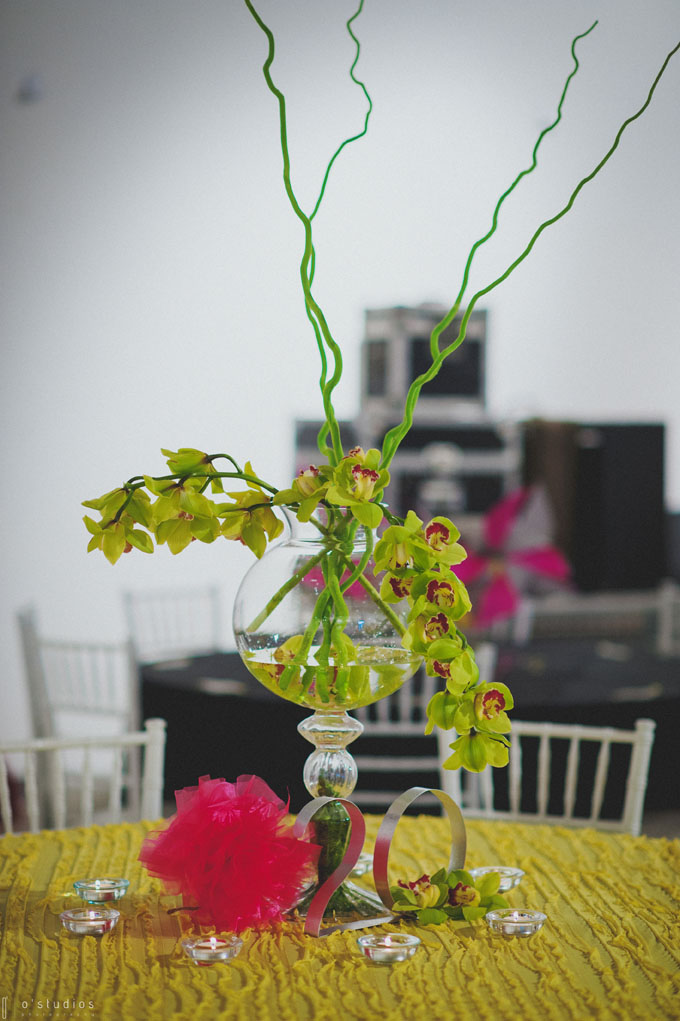 Orchid Centerpiece // // Photo by O'Studios