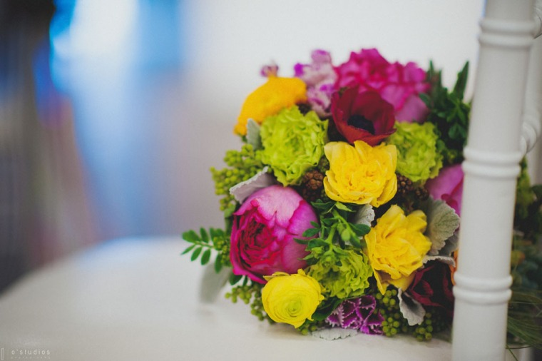 Bright Bouquet // The Not Wedding // Photo by O'Studios