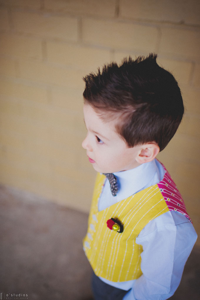 Cutest Ringbear!  Vest, boutonniere, and bow tie by French Knot Studios // Photo by O'Studios