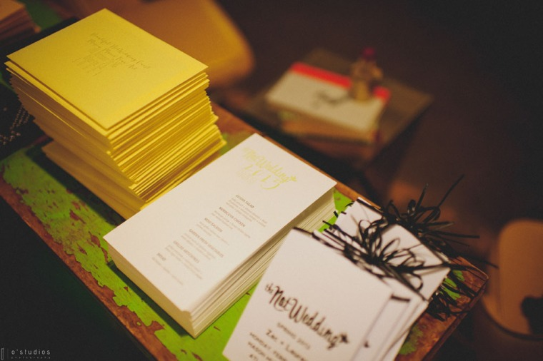 The Not Wedding Programs // Photo by O'Studios