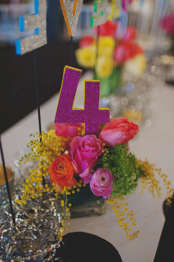 Bright Floral Centerpiece // // Photo by O'Studios