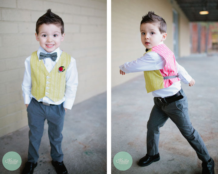 Ring Bearer Bow Tie, Vest, and Boutonniere by French Knot Studios // Photos by Kaitie Bryant