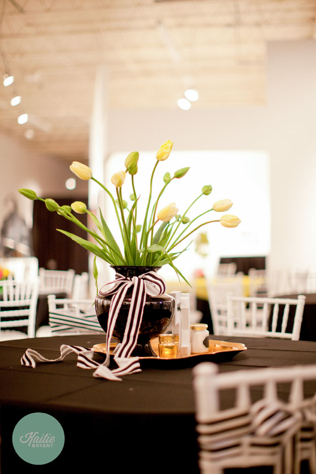 Yellow Tulips Centerpiece // Photo by Kaitie Bryant