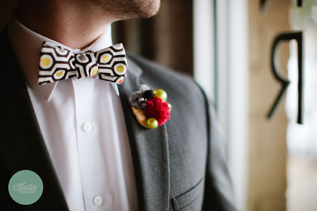 Bow Tie and Boutonniere by French Knot Studios // Photo by Kaitie Bryant