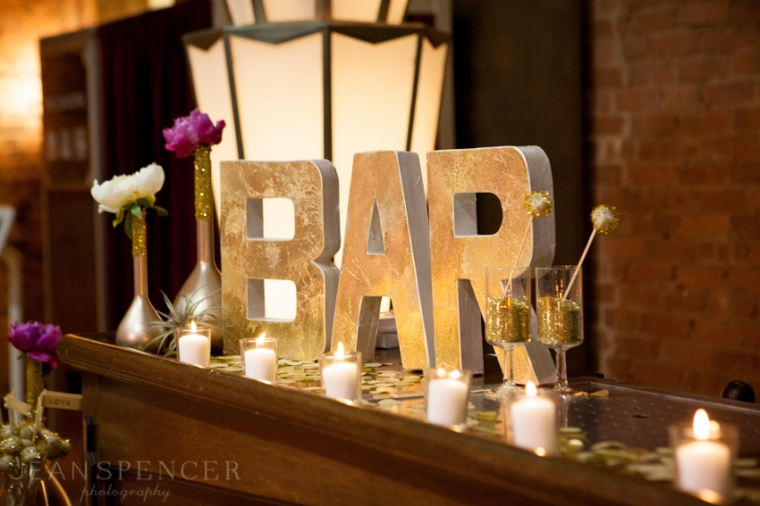 The Not Wedding NY 2013 // Photo by Jean Spencer Photography // Bar Decor by Field & Feather Event Studio